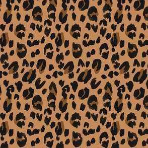 Leopard - black brown on tan