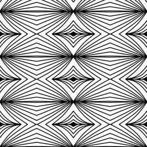 black geometry on white