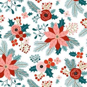 winter flora - white, small