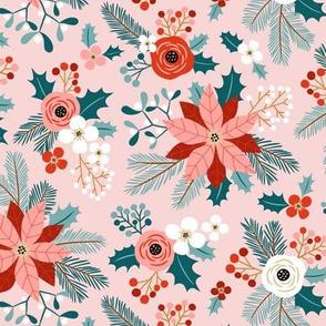 Winter Flora / Blush / Small Scale