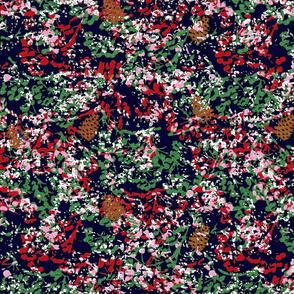 winter flora w pinecones snow
