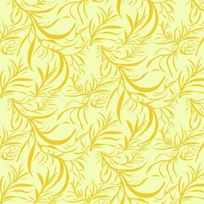 Feathery Leaves of Sunny Lemon on A Whisper of Citrus - Medium Scale