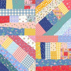 Happy Patchwork Crazy Blocks