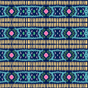 folk art - fringy tropical gems - mirrorMED117