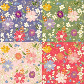 Spring Awakening Patchwork Quilt