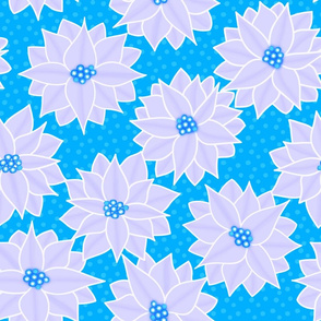 Winter Poinsettia in Icy Blue