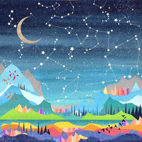 "Summer constellations 18"" square"