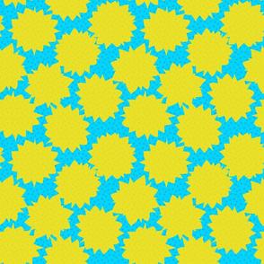 Comic Pop Art - Turquoise & Yellow