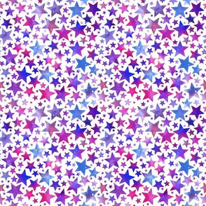 Bright stars - purple/pink/blue on white