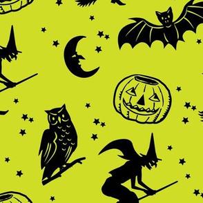 Bats and Jacks ~ Lime Green