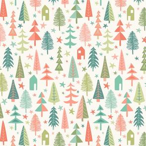 Fir Trees - Pastel