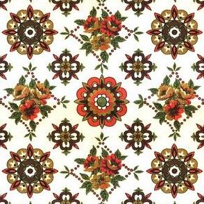 60s geometric floral
