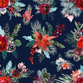 Winter Flora // Navy