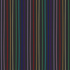 charcoal rainbow pride pinstripe (wide)
