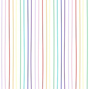 white rainbow pride pinstripe (wide)