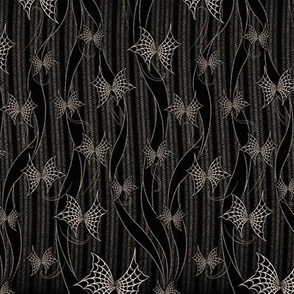 ★ SPIDER WEB THREADS ★ Black and White - Tiny Scale / Collection: Halloween Butterflies - Creepy Prints