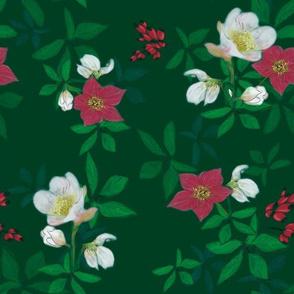 green_christmas_rose