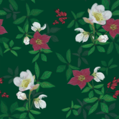 Kathrins_Papier_christmas_rose_green