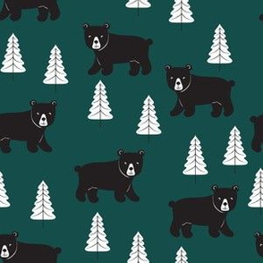Forest Bears - Dark Green - Small Scale