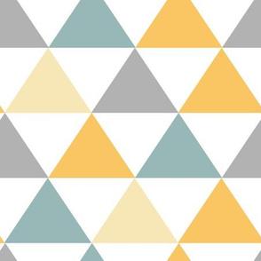 Mustard Teal Gray Triangle Geometric