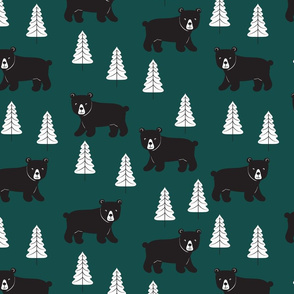 Forest Bears - Dark Green - Large Scale