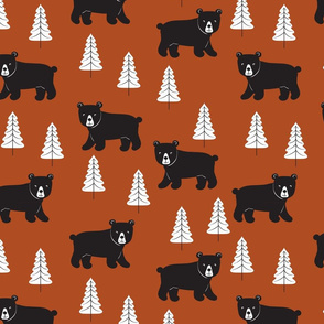 Forest Bears - Rust Orange - Large Scale