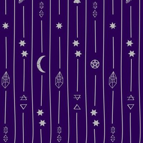 purple witchy pinstripe