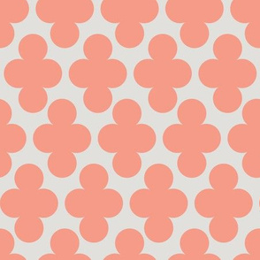Coral Pink Clover Geometric