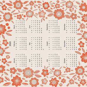 Flora 2020 Calendar Tea Towel