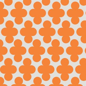 Coral Orange Clover Geometric