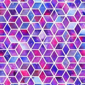 Hexagons - pink/purpleblue #2