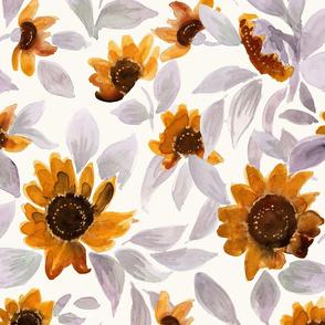 Sunset Sunflowers L