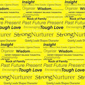 I Am Woman on Yellow by DulciArt,LLC