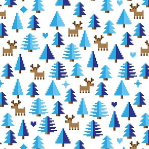 Pixel Winter Flora