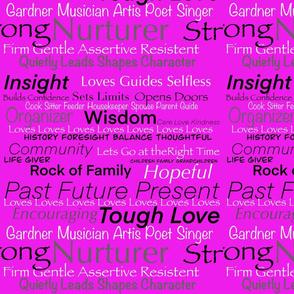 I Am Woman on Pink by DulciArt,LLC