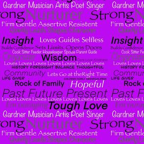 I Am Woman on Purple by DulciArt, LLC