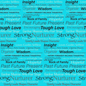 I Am Woman on Turquoise by DulciArt, LLC