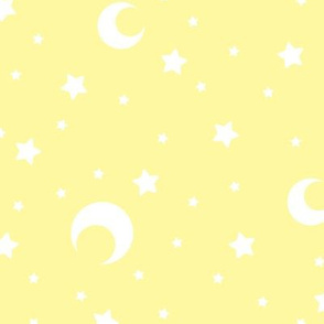 Yellow Moon and Stars