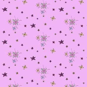 flower and stars - pink