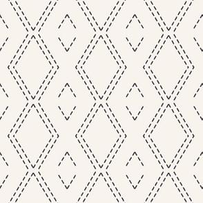 Decorative running stitch embroidery  pattern.