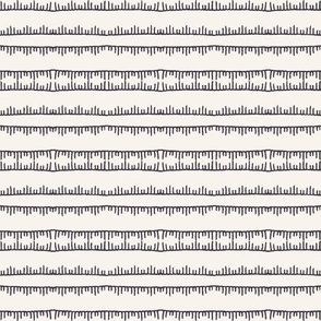 Decorative embroidery stitching stripes pattern.