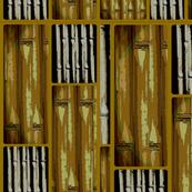 rustic golden bamboo