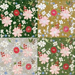 Christmas Bouquet Patchwork Quilt
