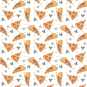 Fun Pizza Slices Comic Food Art