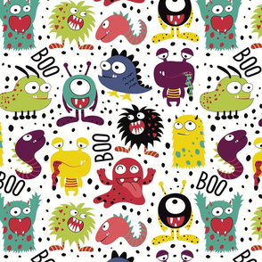 Cool Monsters Kids Art