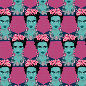 Frida fabric hot pink by Mount Vic and Me