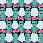 Frida fabric white by Mount Vic and Me