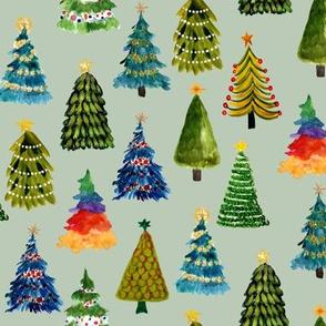 Festive Christmas Trees // Clay Ash