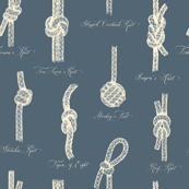 Nautical Knots (Blue-Grey and Beige)
