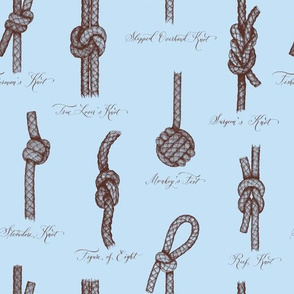 Nautical Knots (Blue and Brown)